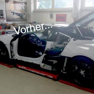 Audi R8 in weiß - vorher